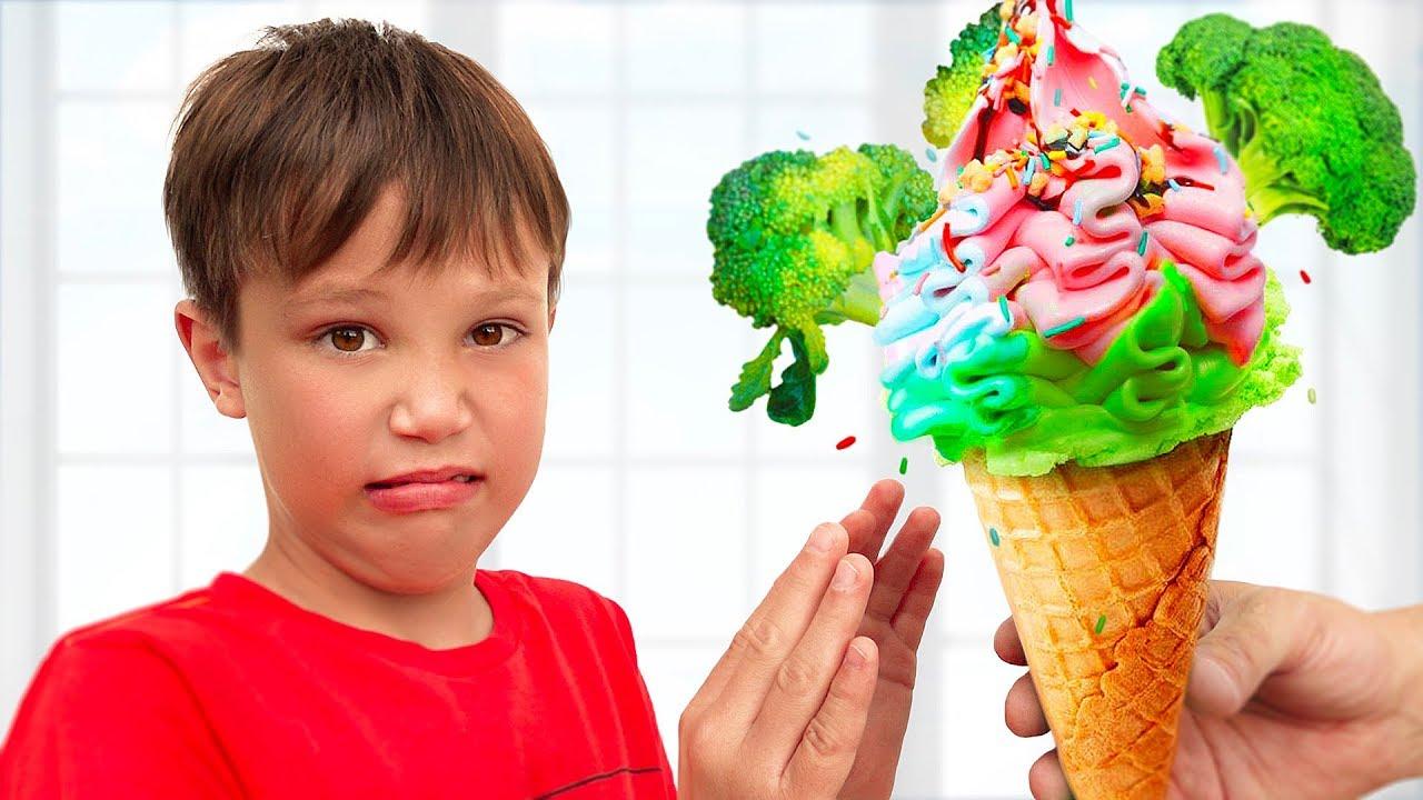 Мисс Кейти — Do you like broccoli ice cream kids song with Max and Katy