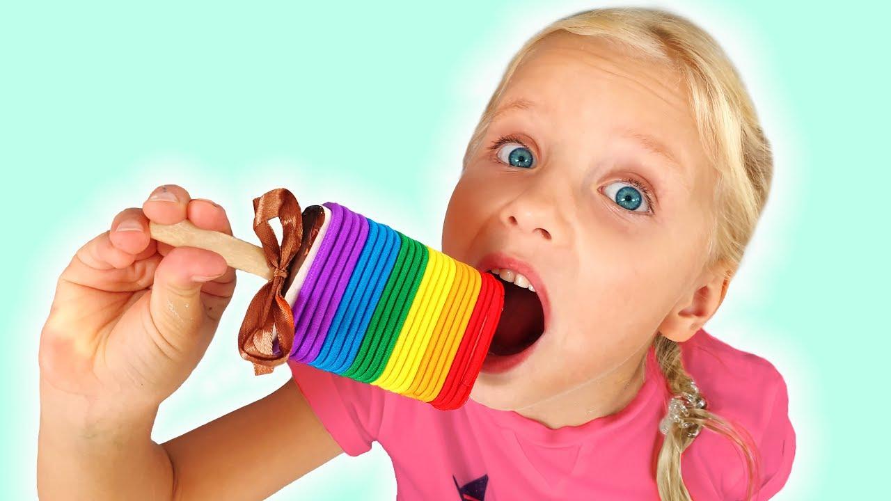 Я — Алиса — Алиса и папа — шоколадный челлендж для детей , сладости и конфеты