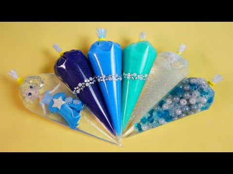 Зырики ТВ — Making Elsa Slime With Funny Piping Bags #66 | Winter Clear Slime, ASMR Satisfying Slime
