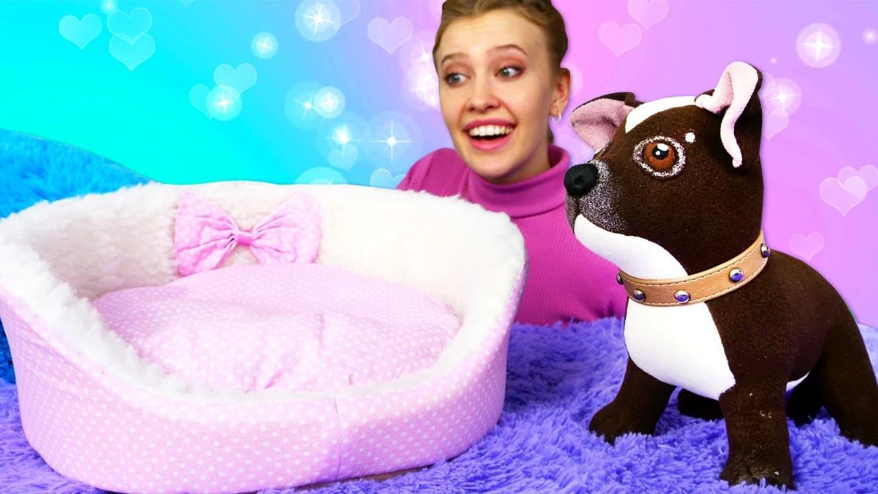 Как МАМА — Детское видео онлайн — Собачка Шоколадка и новая Кроватка! — Видео игры Как мама для игрушки.