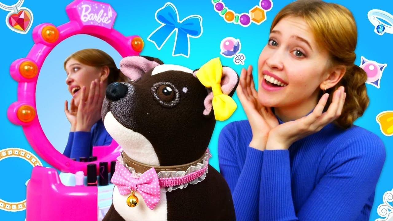 Как МАМА — Игры одевалки для девочек — Как мама. Наряжаем собачку Шоколадку! Игры для детей