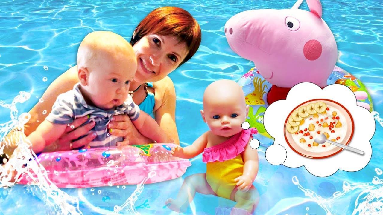 Как МАМА — Игры с Беби Бон — Маша Капуки и Свинка Пеппа. Сборник для детей с Baby Born