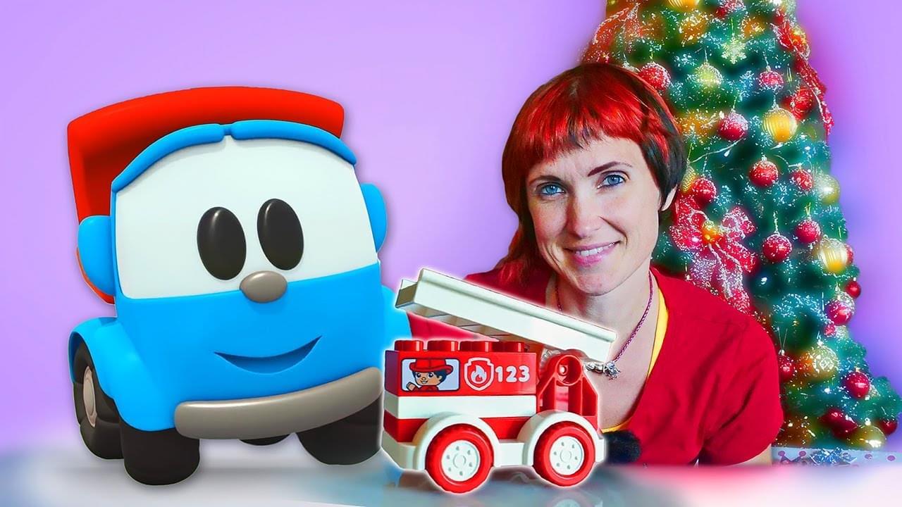 Капуки Кануки — Грузовичок Лева и мультфильм — Маша Капуки и подарок на Новый год — Игры для детей в машинки