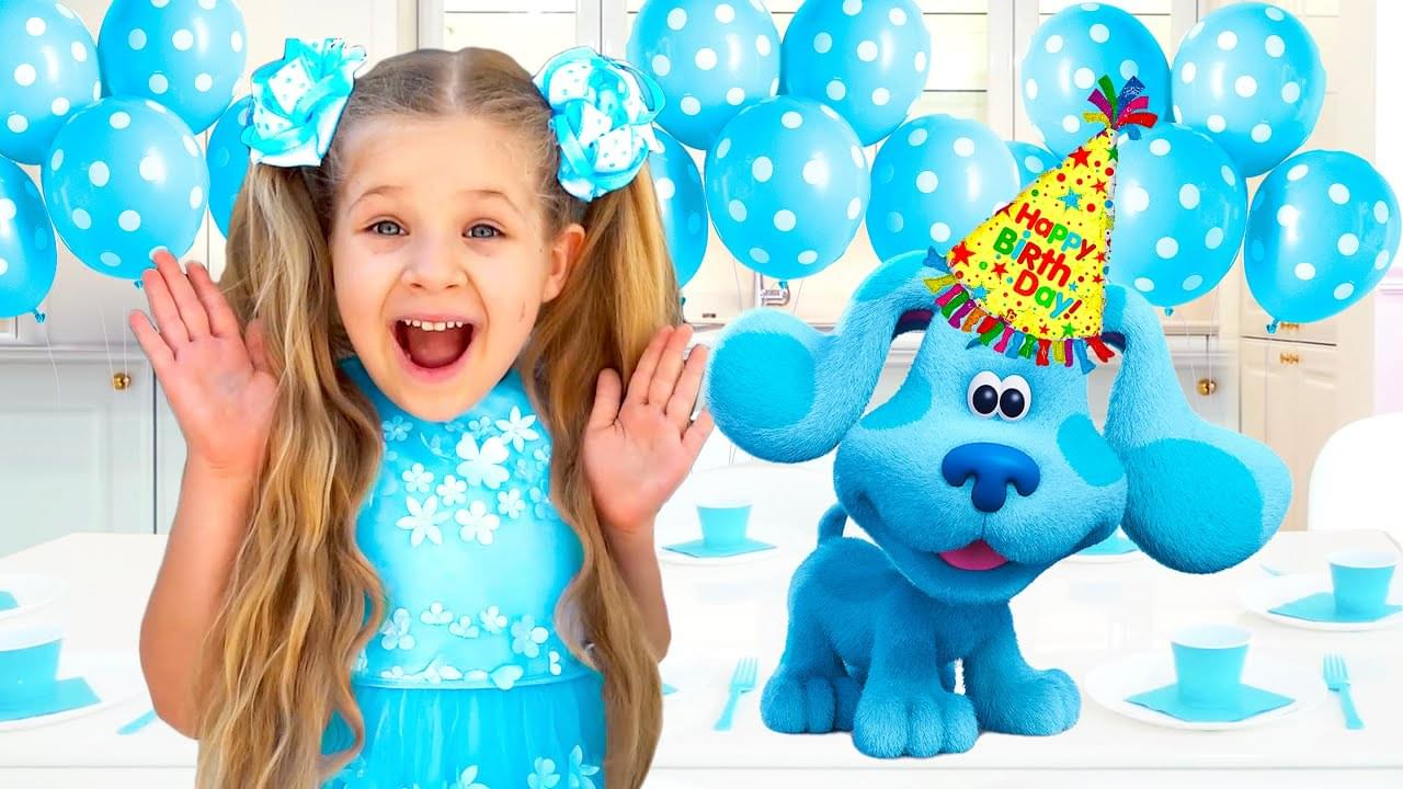 Кидс Диана Шоу — Diana and Roma celebrate Blue's Birthday