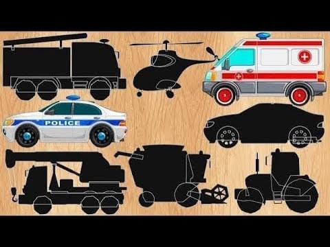 Анимашка Познавашка — Машинки мультики 2020 года Полицейская машинка. Скорая помощь и другие машинки. Прямая трансляция