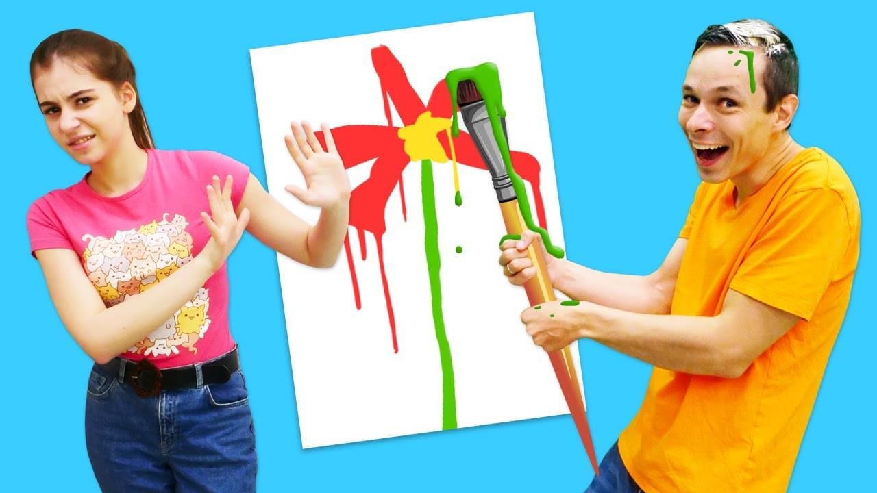 Лучшие Подружки — Смешное видео — Челлендж попробуй Нарисуй! Мальчики против девочек! — Весёлые игры в Вики шоу.