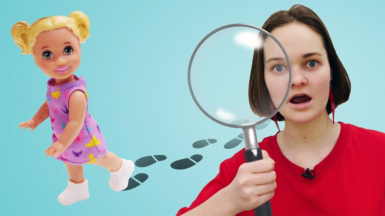Лучшие Подружки — Видео куклы Барби – Штеффи ушла из Дома! Игры детективы!– Для девочек игры прятки.