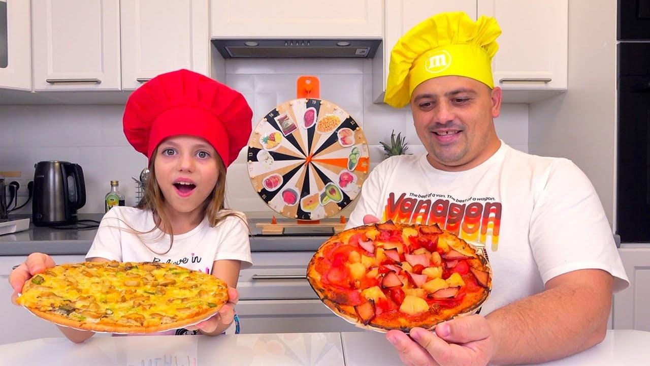 Май Литл Настя — Настя с папой готовят дома Пицца ЧЕЛЛЕНДЖ My little Nastya