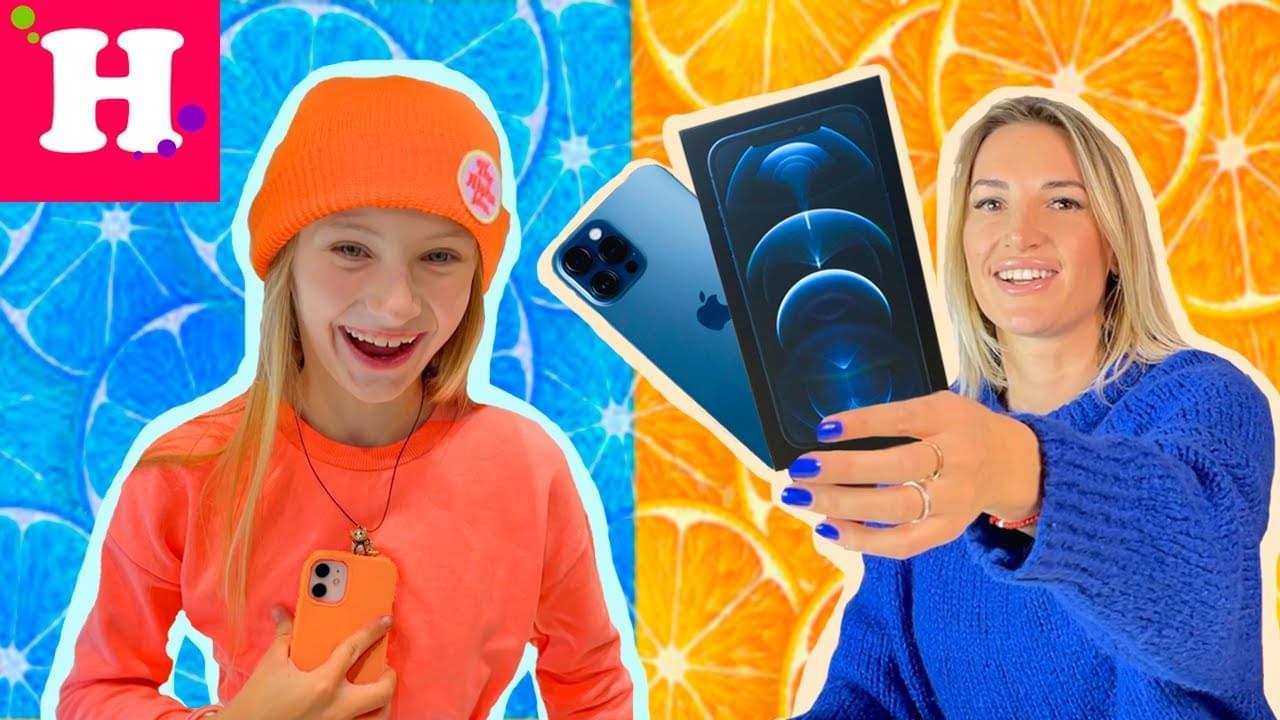 Мисс Николь — 24 ЧАСА В ОДНОМ ЦВЕТЕ С МАМОЙ ЧЕЛЛЕНДЖ // СИНИЙ IPhone 12 Pro Max
