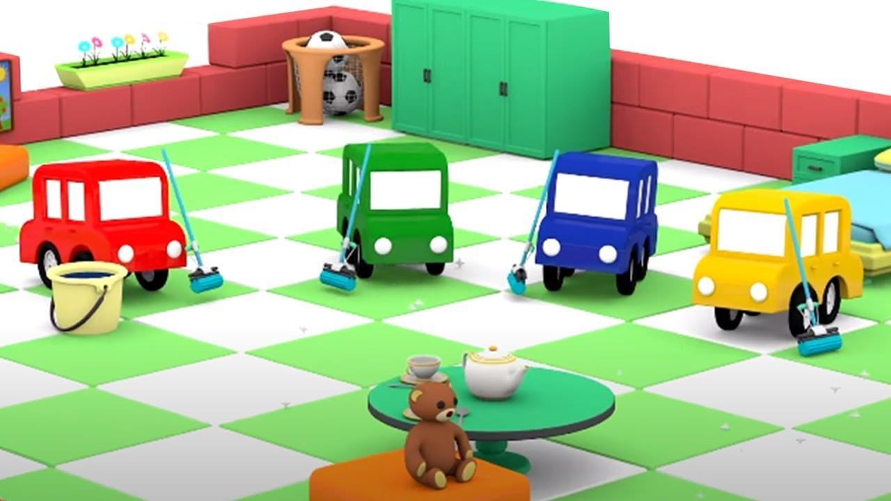 ДиДи ТВ — 4 машинки наводят чистоту: дома, на улице и автомойке! Развивающие мультики для детей про машинки