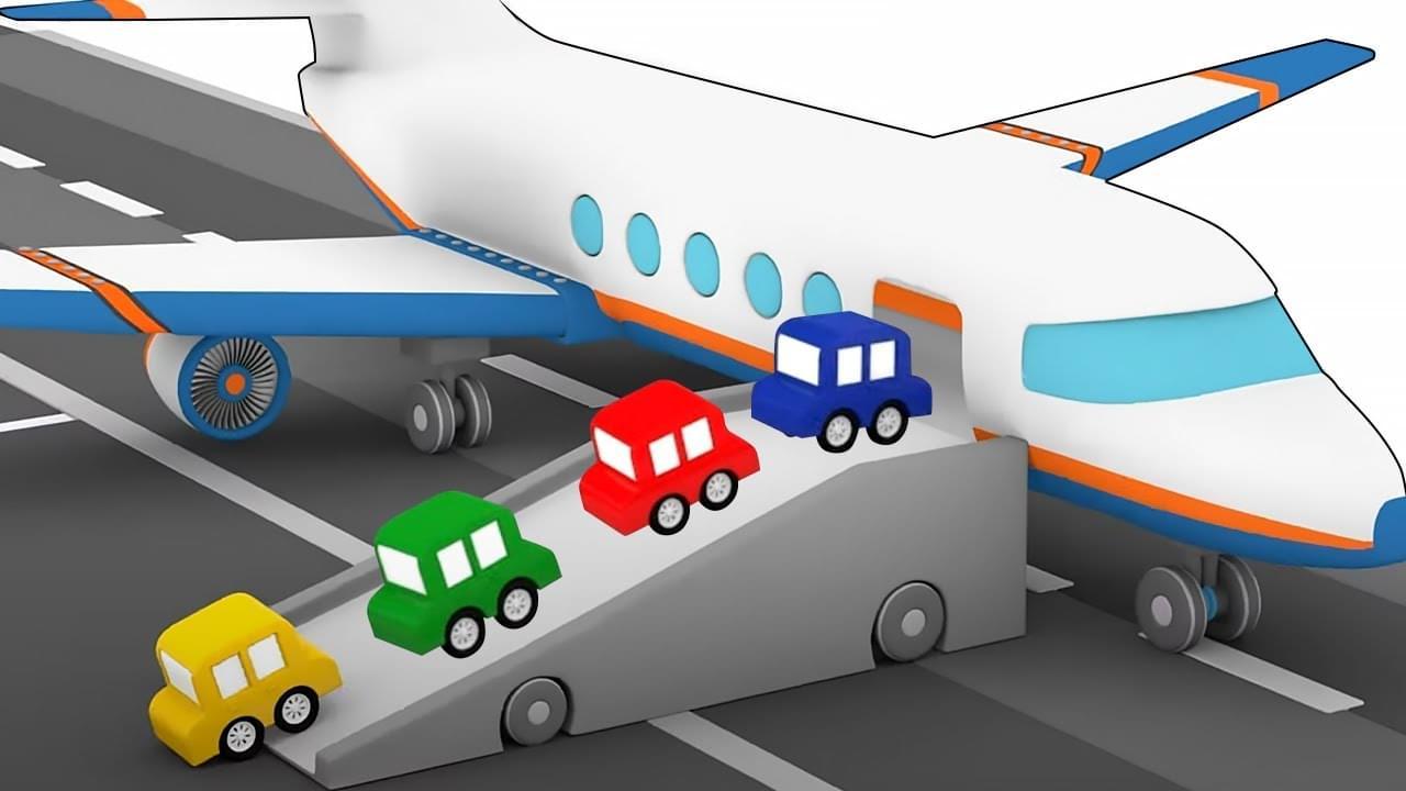 ДиДи ТВ — Развивающие мультики: 4 машинки собирают самолет, вертолет и танк! Сборник для детей
