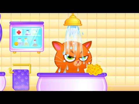 Зырики ТВ — Котик Бубу — Мой виртуальный Питомец #1 Купается, кушает/Funny Game — Bubbu My Virtual cat