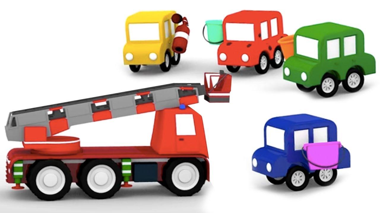 ДиДи ТВ — Развивающие мультики: 4 машинки тушат пожар на стройке и в гараже! Сборник для детей