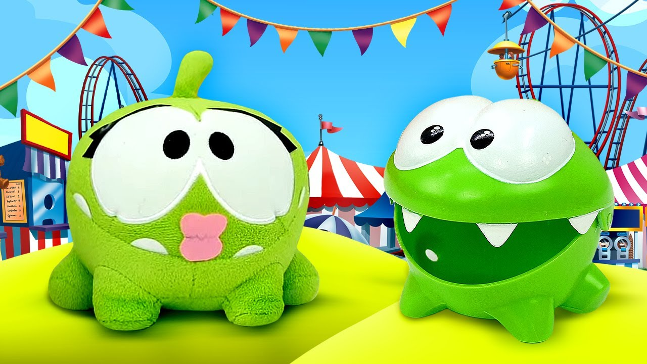 ДиДи ТВ — Ам Ням влюбился в парке аттракционов! Игрушки для малышей и развивающие мультики для детей