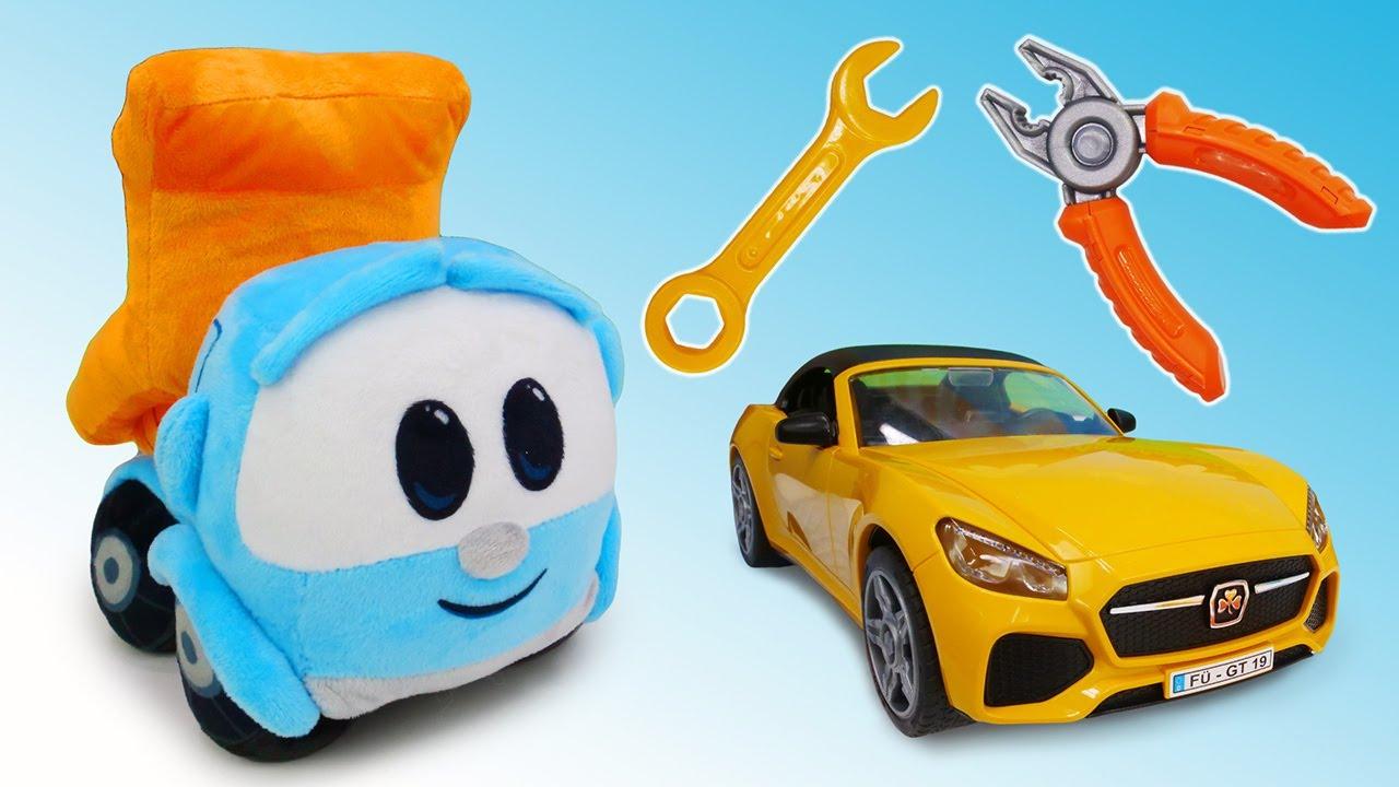 ДиДи ТВ — Грузовичок Лева и ремонт машины: поиск инструментов в бассейне! Развивающие игры для детей