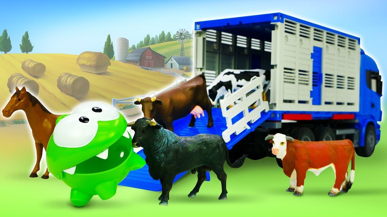 ДиДи ТВ — Монстрик Ам Ням и ферма: уход за животными и выращивание овощей! Игрушки в видео для детей