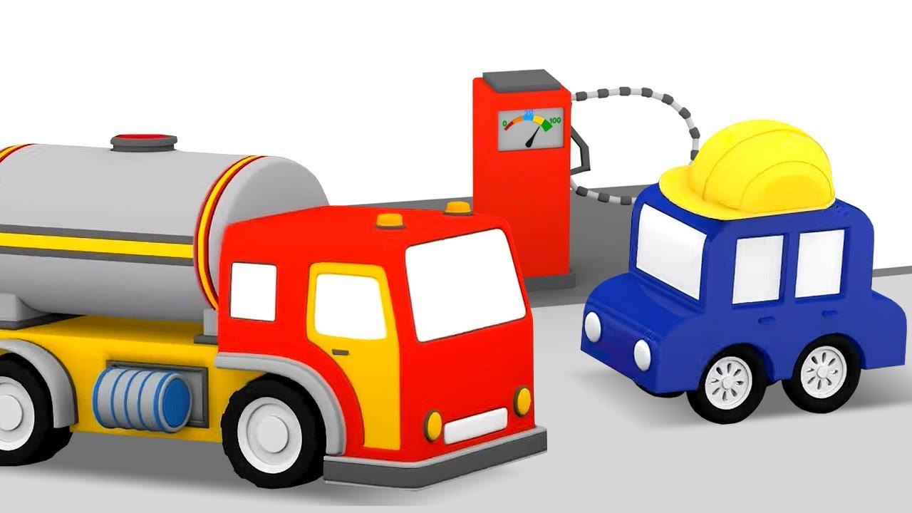 ДиДи ТВ — Развивающие мультики: 4 машинки собирают бензовоз, водовоз и мусоровоз! Сборник для детей