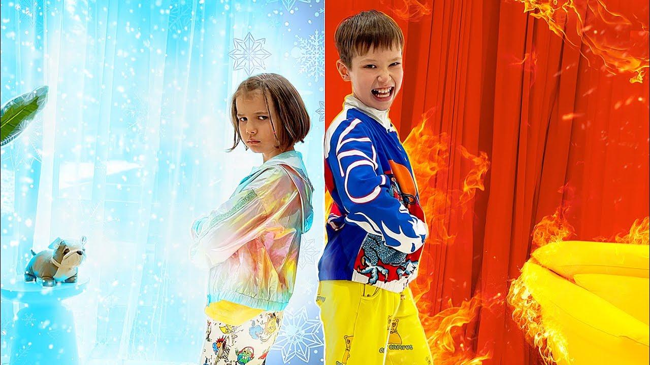 Мисс Кейти — Катя и Макс устроили холодное VS горячее челлендж