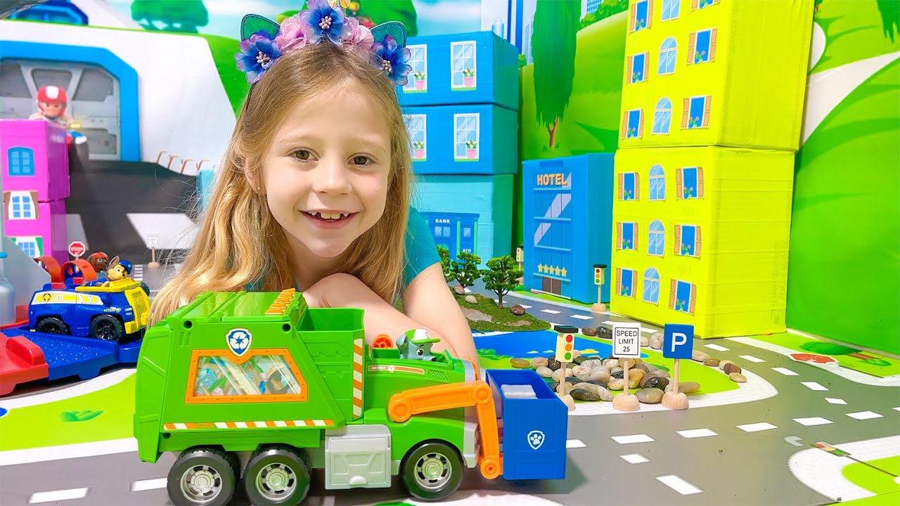 Nastya learns how to reuse on Earth Day with the PAW Patrol Toys