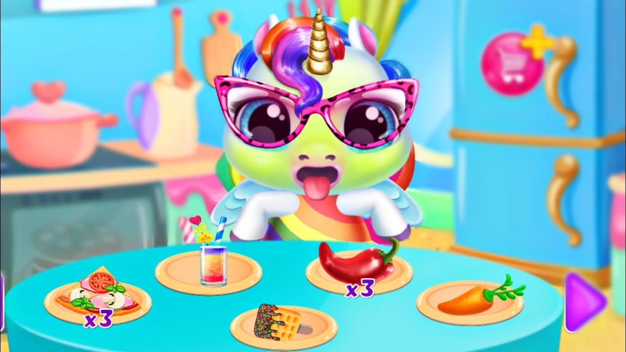 Зырики ТВ — Играем в игру Мой маленький Радужный Единорог 3 Моется радужным мылом/Baby rainbow unicorn/Зырики ТВ