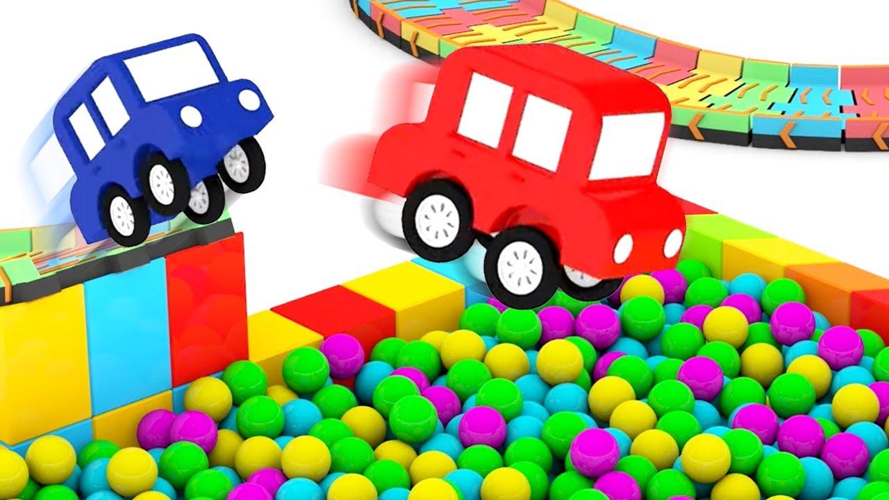 ДиДи ТВ — 4 машинки собирают цветную трассу! Мультики для детей — все серии подряд