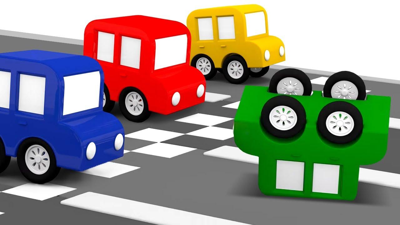 ДиДи ТВ — Мультики для детей: 4 машинки соревнуются! Развивающие мультфильмы — Все серии подряд