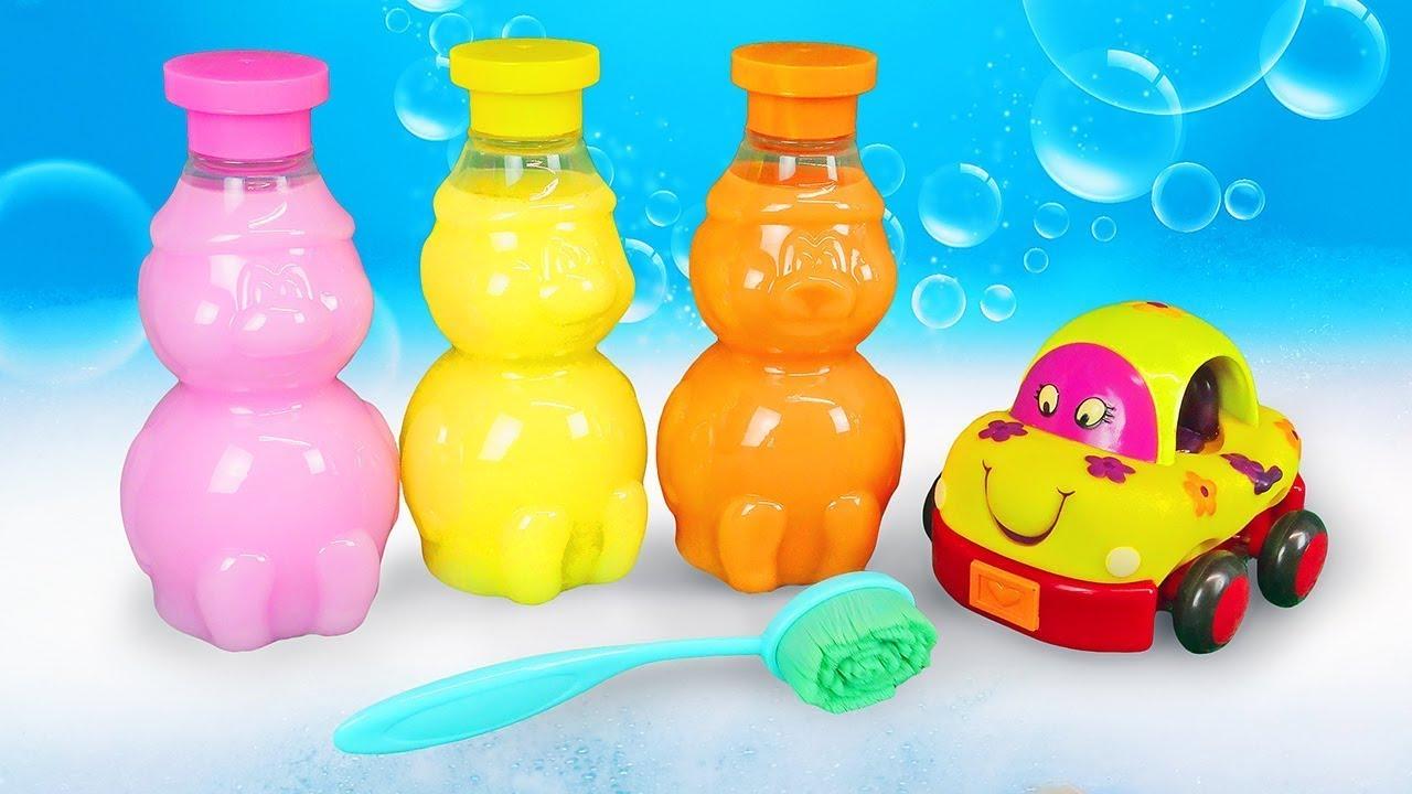 ДиДи ТВ — Пора купаться, желтая машинка! Про игрушки в ванной в видео для детей