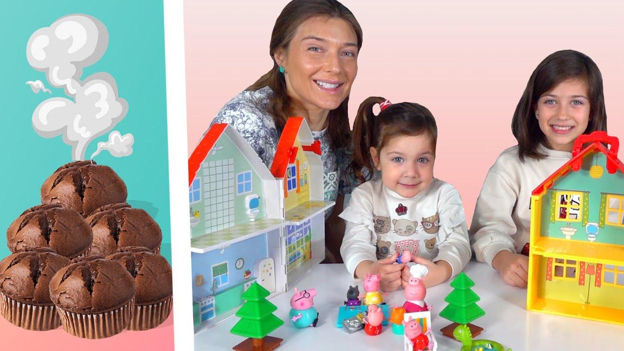 Эмилюша представляет — Готовим вместе: Эмилюша с сестренкой шоколадные маффины