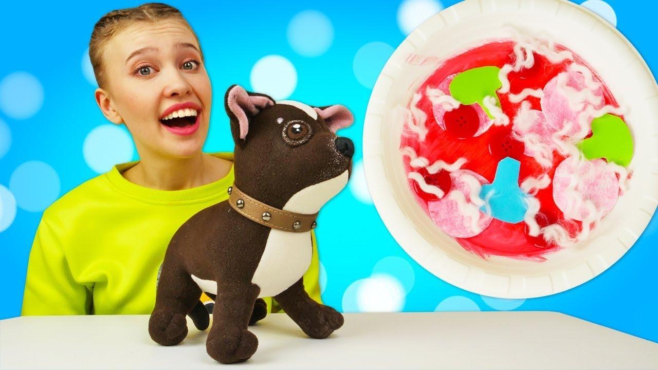 Как МАМА — Мягкие игрушки Шоколадка и Грузовичок Лева готовят пиццу. Новое видео Как МАМА