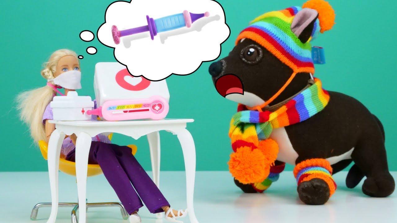 Как МАМА — Прививка для Шоколадки — Видео игры доктор Барби — Детское видео онлайн Как мама