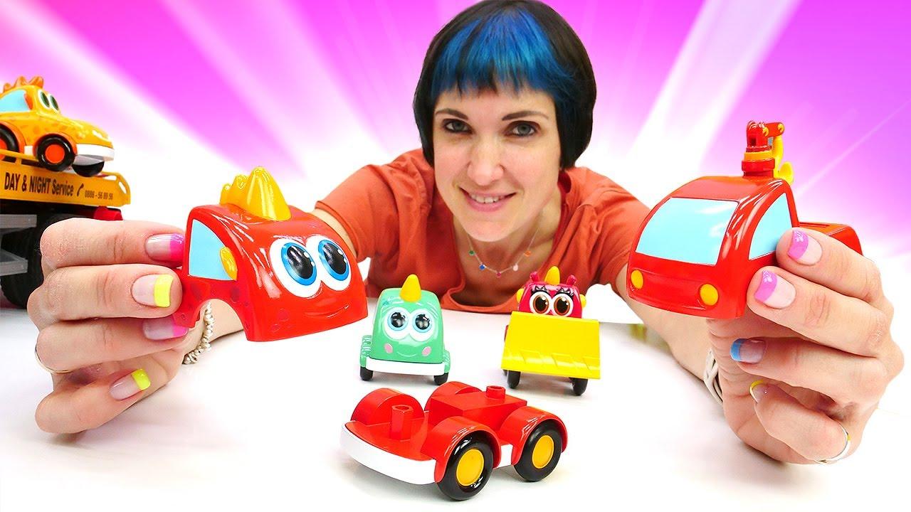 Капуки Кануки — Машинки Мокас строят заправку. Веселая школа Капуки Кануки. Мультики и Игры в машинки Мокас
