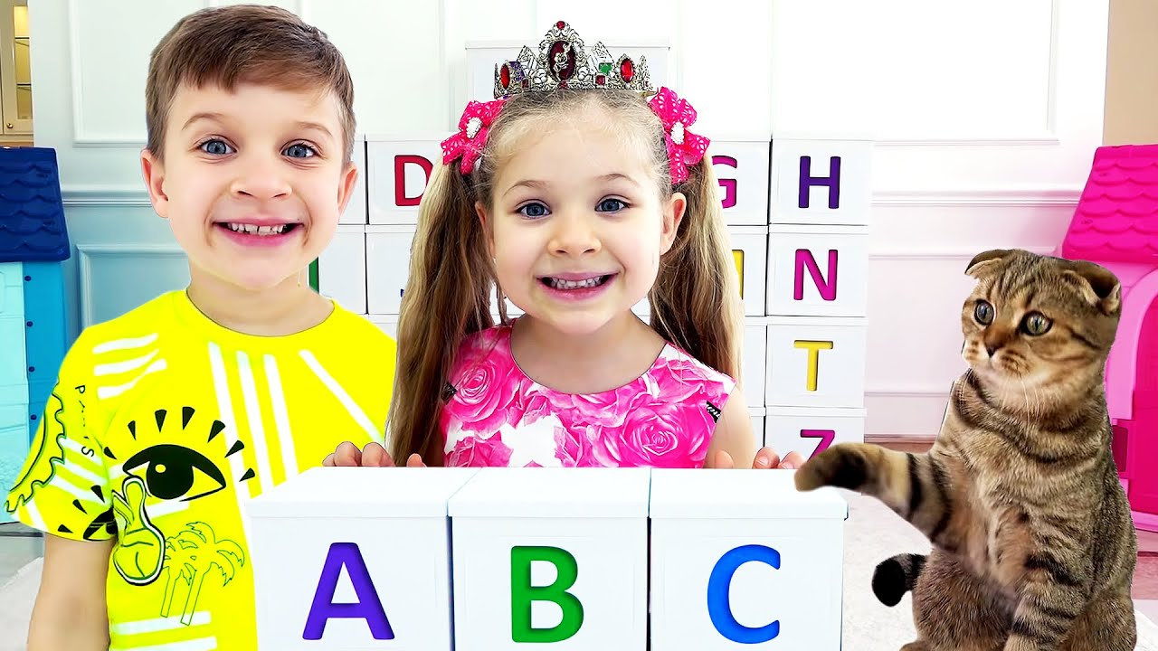 Кидс Рома Шоу — Roma and Diana learn the alphabet / ABC song