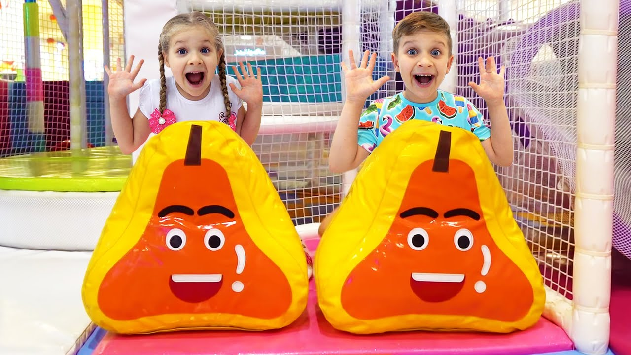 Кидс Рома Шоу — Roma and Diana Indoor Playground for kids with Inflatable Slides