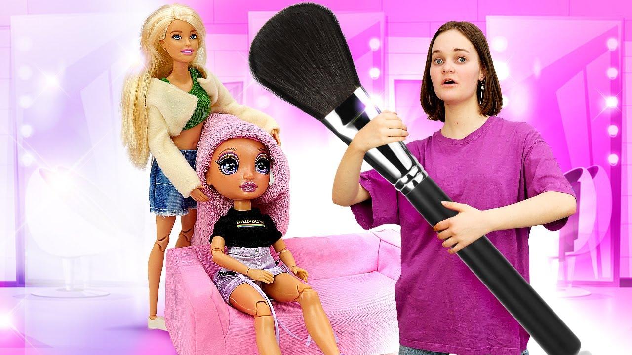 Лучшие Подружки — Барби готовит моделей для съемки  — Игры с Барби: одежда, прически, макияж — Видео  для девочек