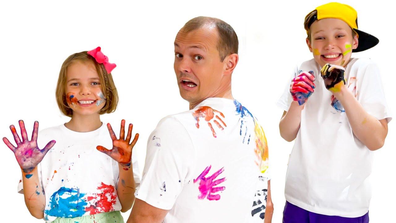 Мисс Кейти — Катя и Макс устроили челлендж с красками