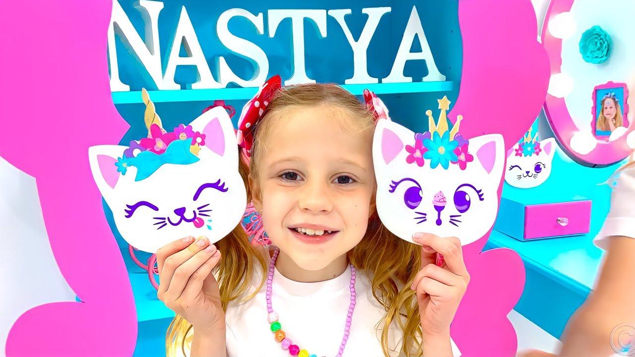 Настя и ее новая DIY комната в стиле Like Nastya.
