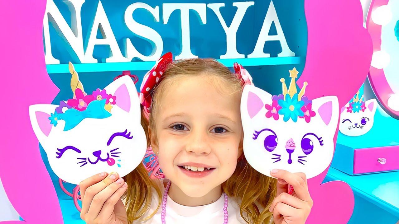Nastya and her DIY children's room decor ideas
