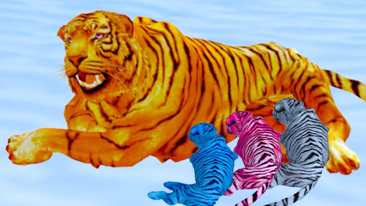 Пурумчата — Симулятор Семьи Белого Тигра #3 Рыжая Дикая Кошка Кида и семья. Много маленьких тигрят на Пурумчата