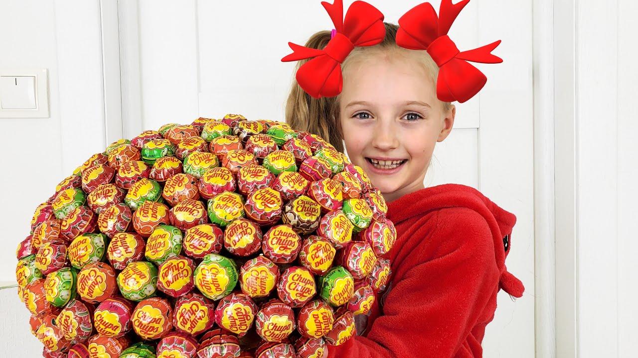 Супер Полина — Полина готовит торт из конфет и другие приключения для детей