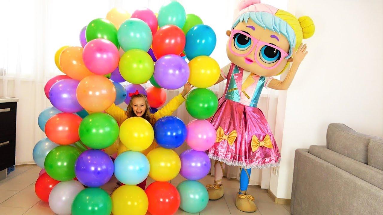Супер Полина — Полина и ее новый дом из шариков