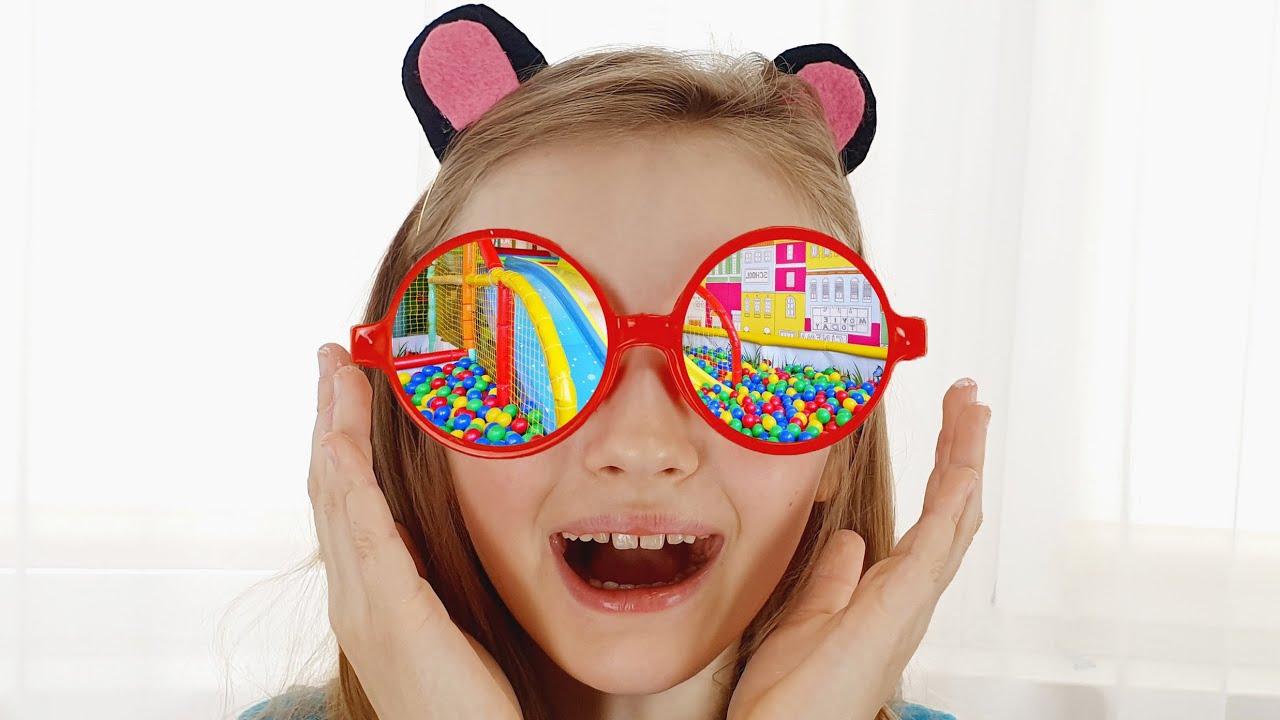 Супер Полина — Полина играет с волшебными очками