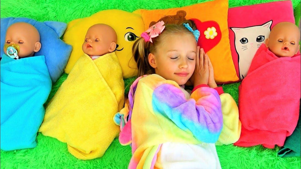 Супер Полина — Polina pretend play mom for kids