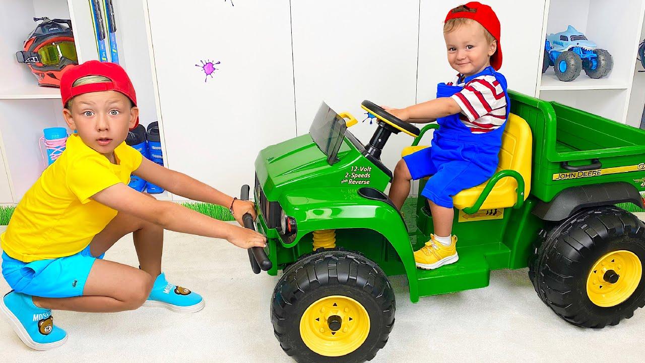 Супер Сеня — Сеня и Ники НЕ поделили мини Трактор