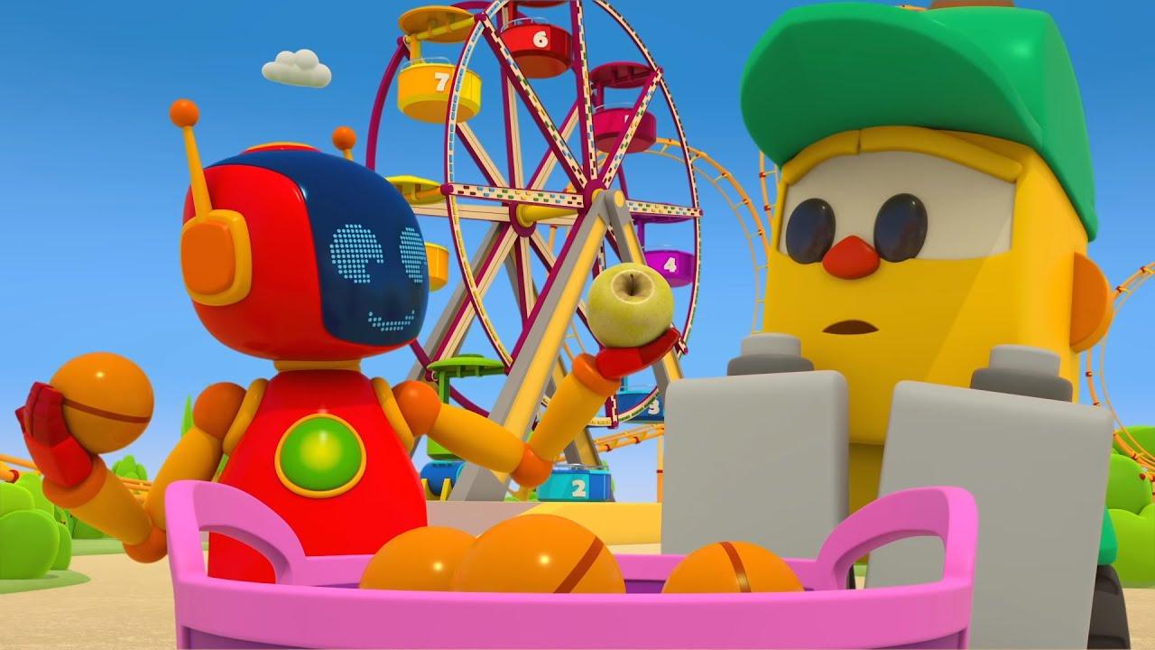 ТВ Деткам — Детский мультфильм Грузовичок Лёва -Тир и игры в Парке Развлечений! Сборник мультиков про машинки.