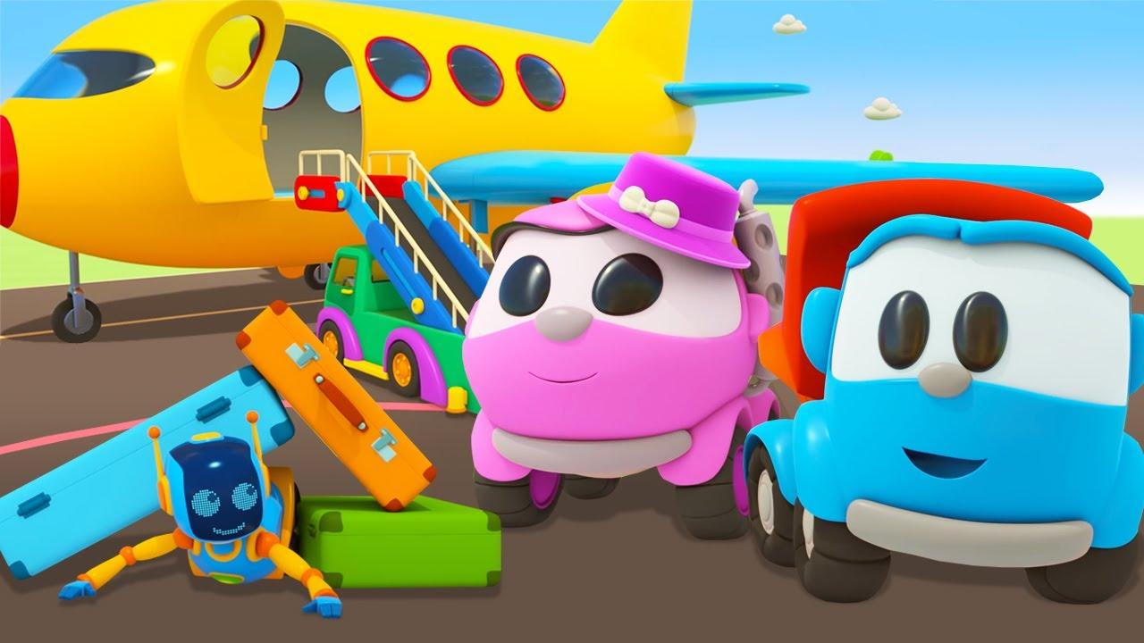 ТВ Деткам — Развивающие мультики про машинки для детей. Сборник Грузовичок Лёва и самолеты