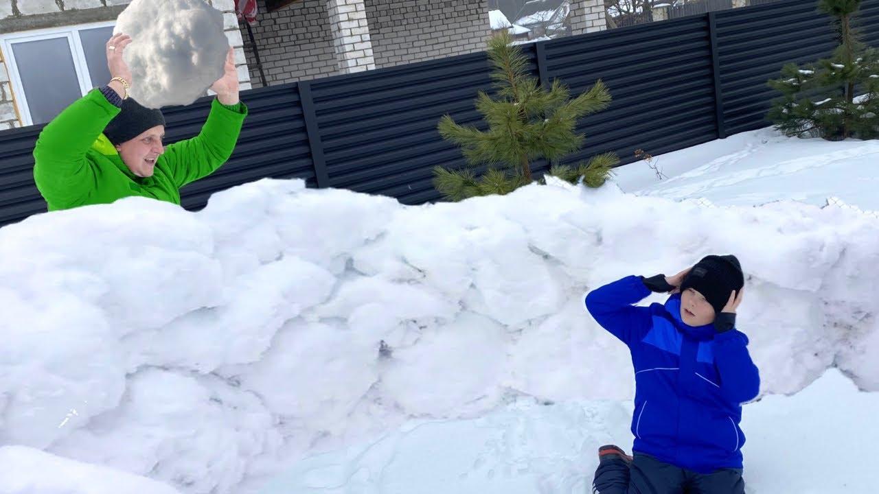 Брос Шоу — Прямой Эфир. Снежная битва и уборка снега