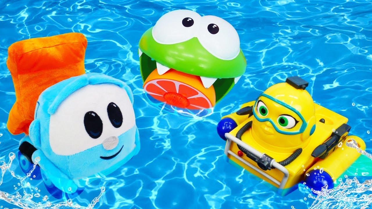 ДиДи ТВ — Ам Ням, Элаяс и Лева ищут что-то бассейне! Сборник — Развивающие мультики для детей про машинки