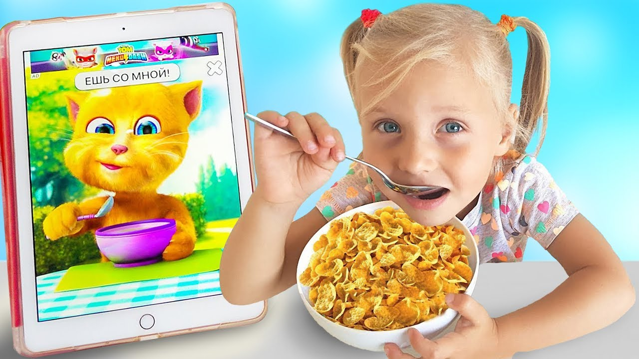 Я — Алиса — Kids has Breakfast with a talking cat / new funny stories