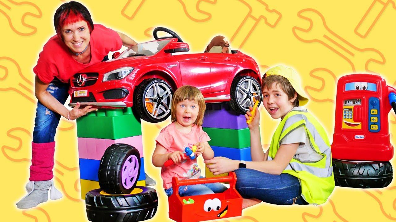 Как МАМА — Привет, Бьянка! Трейлер. Бьянка, Маша Капуки и Адриан играют в машинки — Веселые игры с детьми
