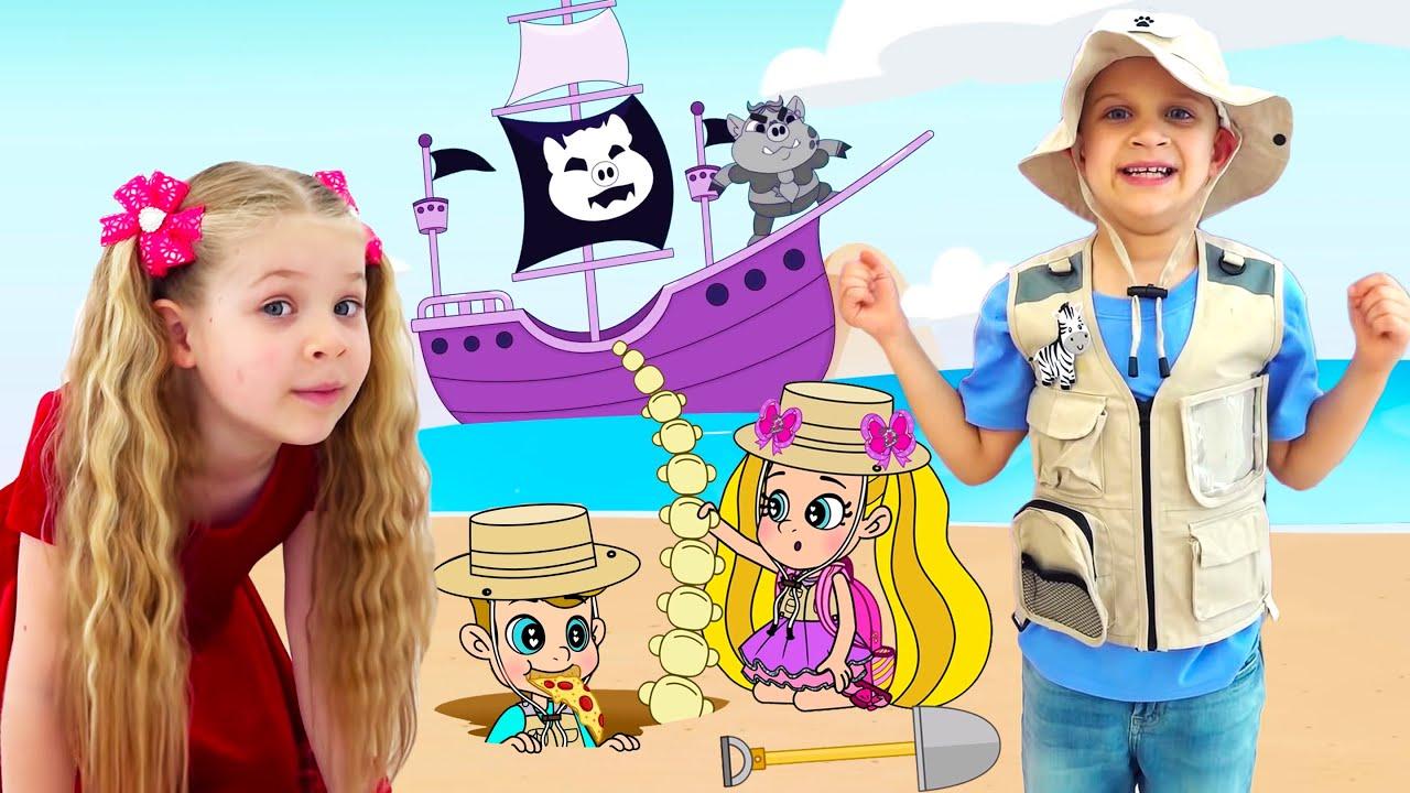 Кидс Рома Шоу — Roma and Diana Adventures in a Magical Cartoon World! Сompilation 3, Funny Cartoons for kids